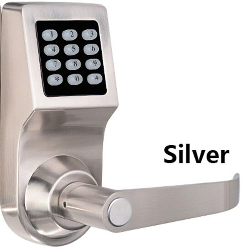 Mot de passe serrure électronique de porte avec clavier numérique télécommande RFID clé déverrouiller serrure intelligente porte en bois P10