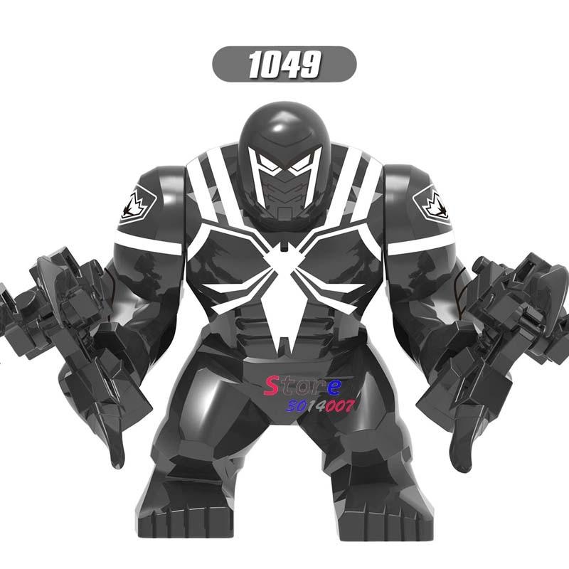 New White Anti Venom Big Figure Spider Man Marvel Comics Avengers For Toy Bricks
