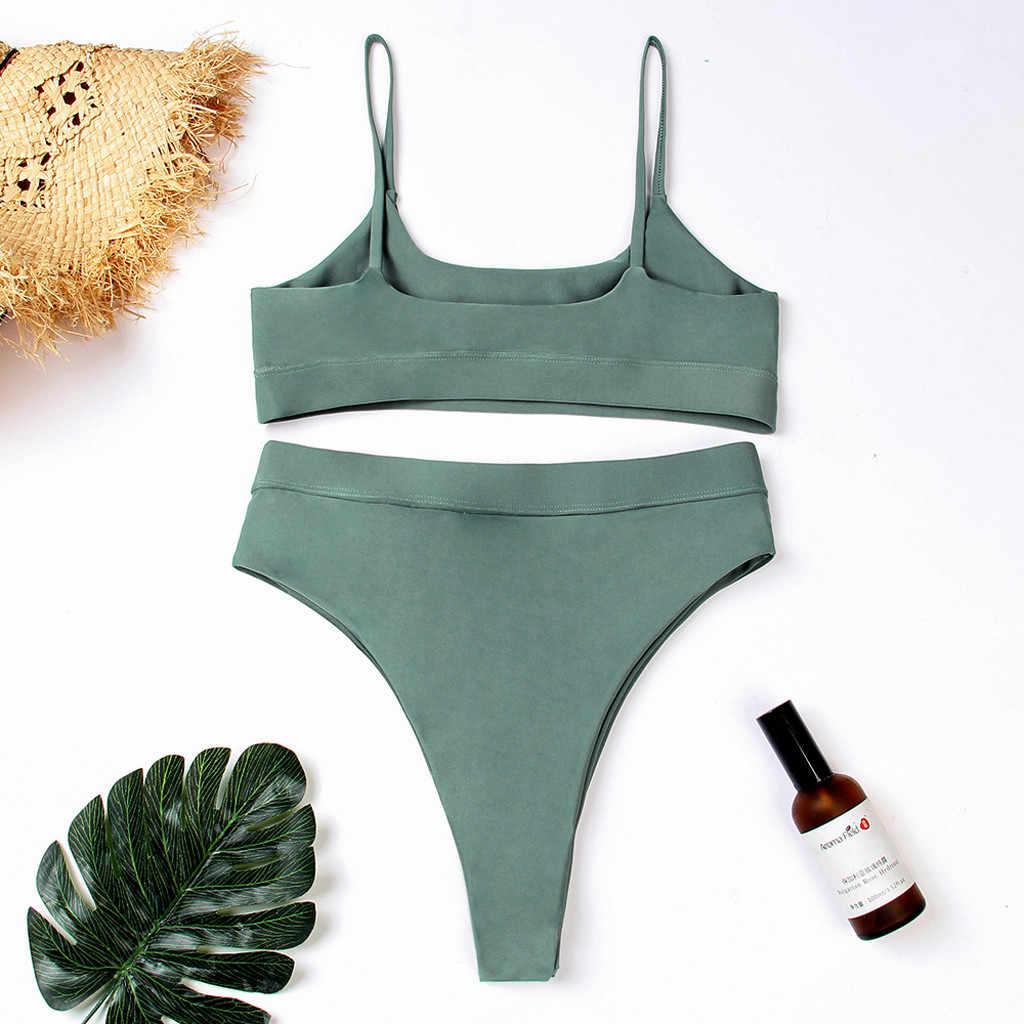Conjunto de Bikini sexi para mujer, Sujetador con relleno, conjunto de Bikini Brasileño para la playa, traje de baño para mujer, traje de baño