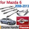Для Mazda 6 2008-2013 Аксессуары Для Хромированные Дверные Ручки Atenza 2009 2010 2011 2012 Седан Универсал Крышка Автомобиля Стикер Стайлинга автомобилей