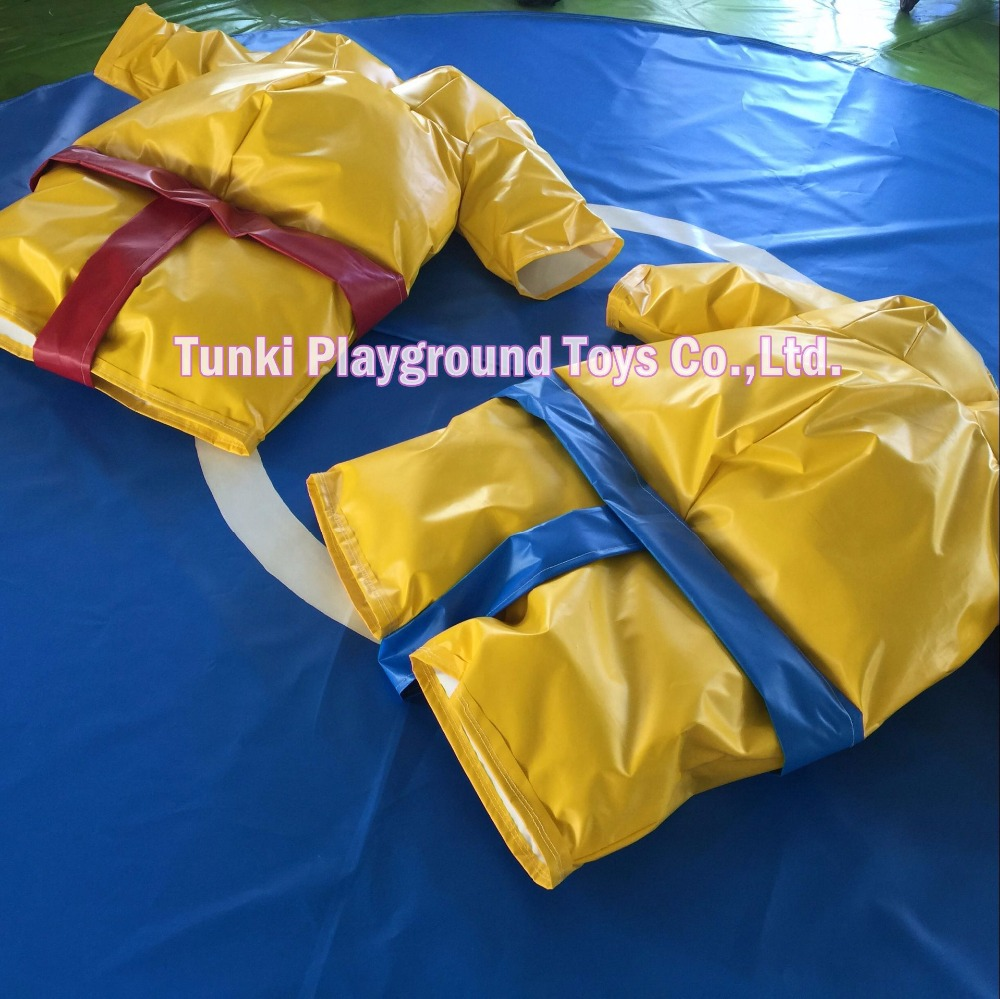 Haute qualité usine de combat Sport jeu pas cher gonflable beige sumo costumes pour les enfants
