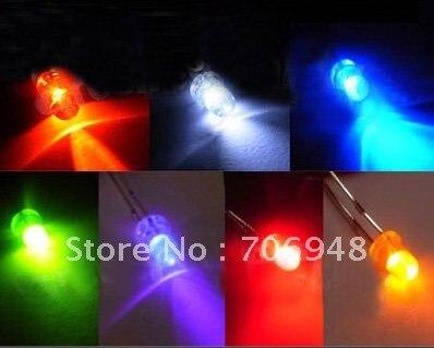 Микс круглый 3 мм светоизлучающие диоды 100 шт. каждый цвет 7 цветов