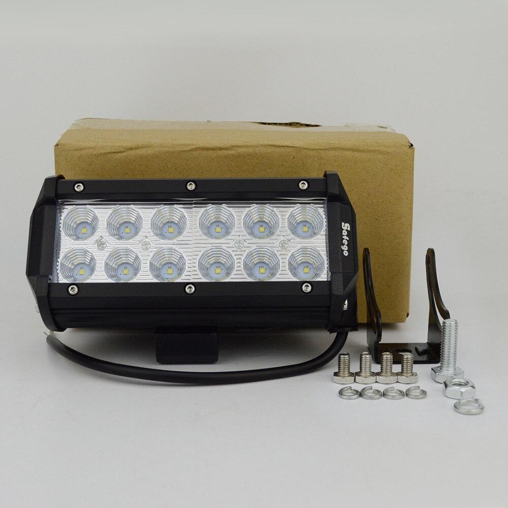 2PCS 7INCH 36W LED WORK LIGHT BAR FLOW OFFROAD LIGHT TRACTOR BOAT ATV - Ավտոմեքենայի լույսեր - Լուսանկար 5