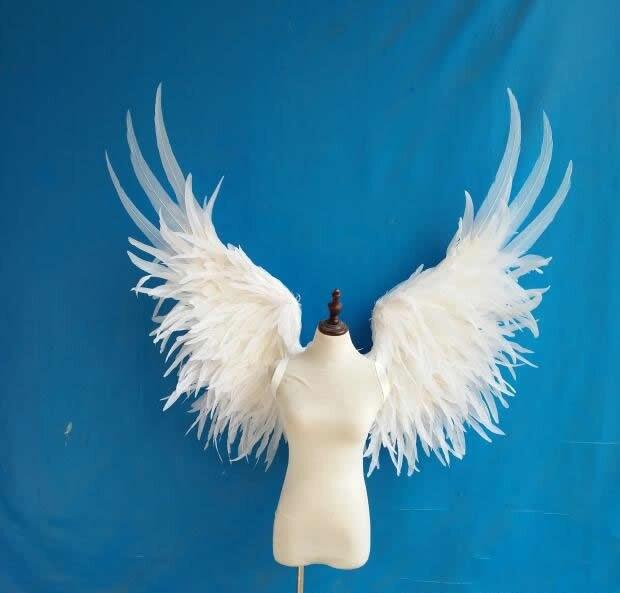 Blanc ange plume aile adulte modèle défilé sous-vêtements spectacle tir props festival partie aile pour Halloween Enfants de Jour