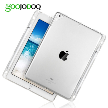 Case for iPad Pro 9.7 /for iPad 2018 2017 Air 2 1 Case with Pencil Holder TPU Soft Silicone Shell Full Protect Transparent Cover