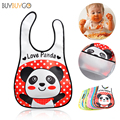 New Baby EVA Waterproof Bibs Children Cartoon Pattern Bibs Burp Cloths Infants Baby Girl Boy Lunch Bibs Children Feeding Care
