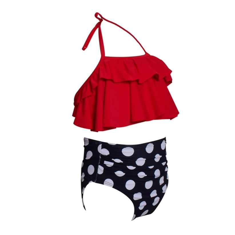 MUQGEW/2019 г. Купальники бикини для маленьких девочек, детский купальный костюм, 2 предмета, для маленьких девочек, с оборками, набор для купания, купальный костюм