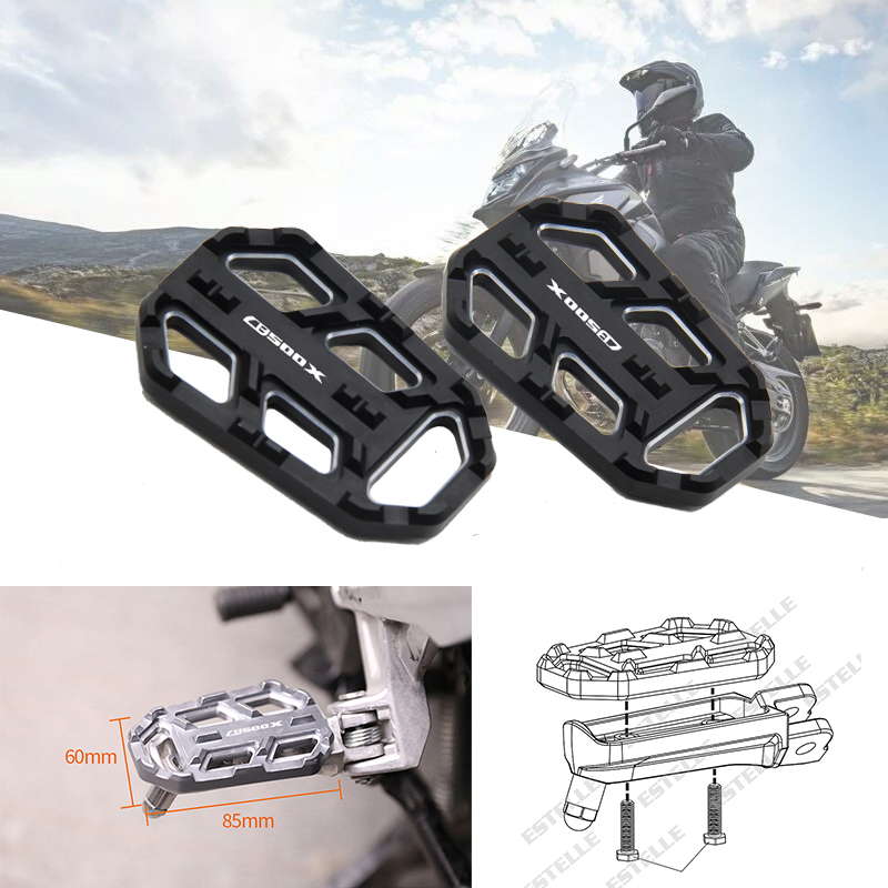 For <font><b>HONDA</b></font> <font><b>CB500X</b></font> cb500 x CB500-X 2015 <font><b>2016</b></font> motorcycle accessories front footboards CNC Aluminum running boards image