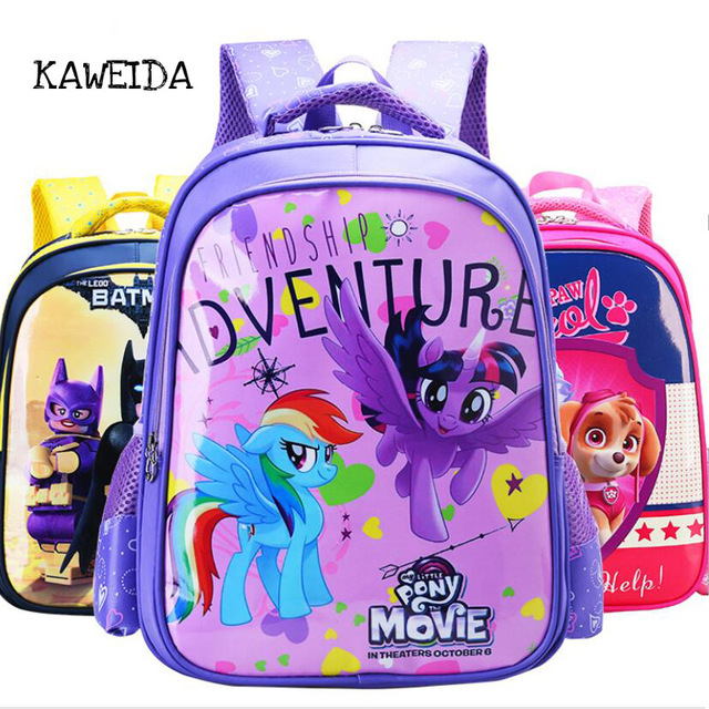 adf584f160cb My little Pony School bags for Kindergarten Pupil Kids Cute Children Movie  Schoolbag Orthopedic Backpack Day Pack for boys girls