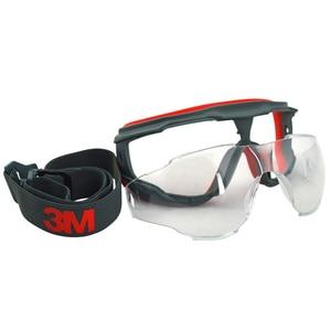 Image 4 - 3M GA501 נגד השפעה אנטי splash בטיחות משקפיים Goggle ספורט אופניים כלכלה ברור אנטי ערפל עדשה הגנה על העין עבודה