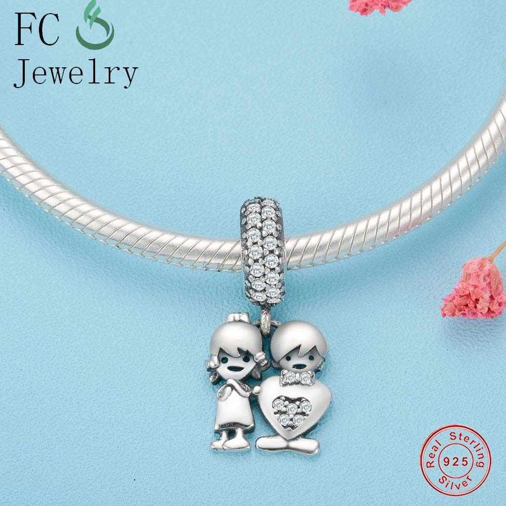 75262519e ... Authentic 100% 925 Sterling Silver Cute Robot Charm Heart Beads Fit  Original Pandora Charm Bracelet
