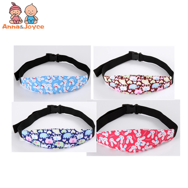 10pcs/lot New Fixed Band Printing Baby Stroller Baby Safety Seat Head Fixing Strap Doze Off Safety Belt For Sleeping Sleep Deity