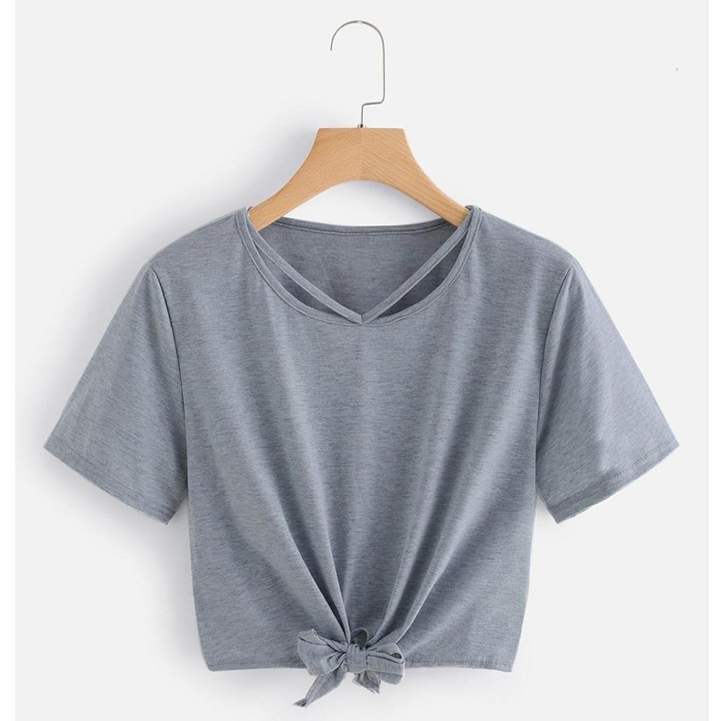 Plus Size Bandage Summer 2020 T Shirt Women Short Sleeve Fashion Simple Streetwear Casual Korean Style Tshirt Women camisetas mu