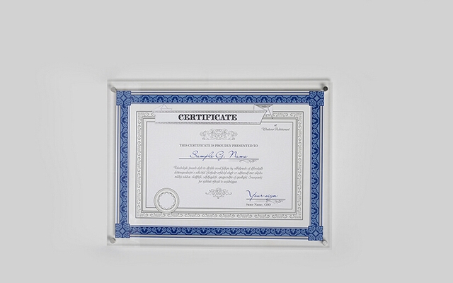 A4 Wall Mounted Acrylic Photo Certificate Frame Floating Acrylic
