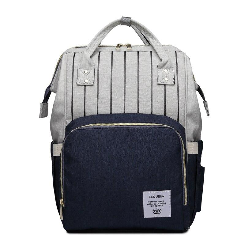 Image 5 - Fashion Mummy Bag Striped Maternity Nappy Bag Large Capacity Baby Bag Travel Backpack Designer Nursing Bag for Baby CareDiaper Bags   -