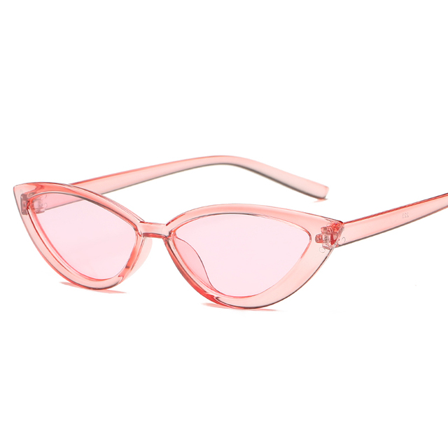 Cat Eye Style Clear Frame Sunglasses Women Purple Red Pink Summer Accessories for Beach Fashion Female Sun Glasses UV400