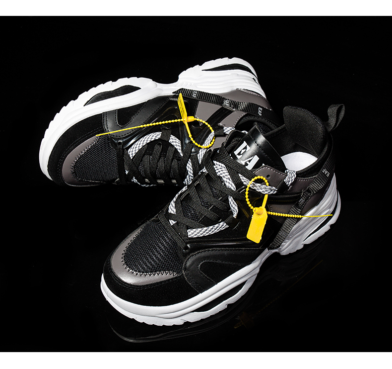 HTB1NcGELcfpK1RjSZFOq6y6nFXaH BomKinta Stylish Designer Casual Shoes Men Yellow Sneakers Black White Walking Footwear Breathable Mesh Sneakers Men Shoes