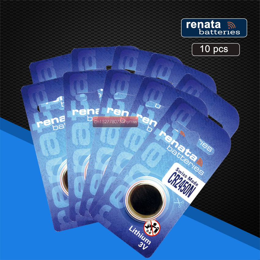 10pc New Original Renata CR2450 CR 2450 3V Lithium Button Cell <font><b>Battery</b></font> Coin <font><b>Batteries</b></font> For Watches,clocks,hearing aids image