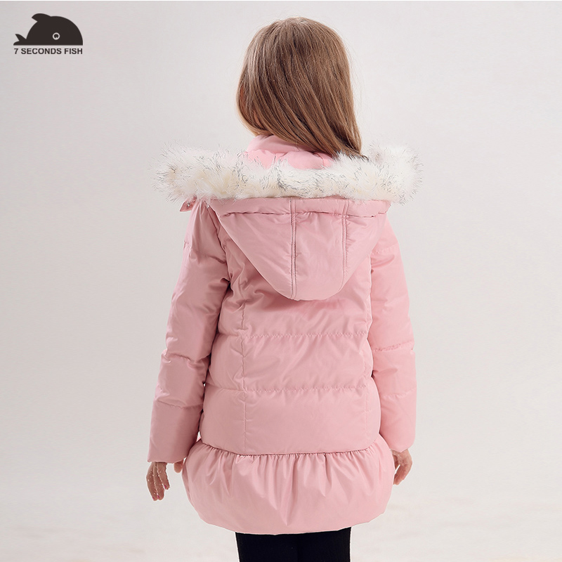 Girls Winter Coat kids down Jacket children winter jacket girls clothes winter Detachable fur hood girls down jacket 12 years все цены