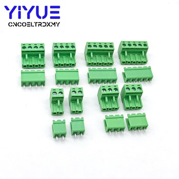 5.08 2pin-5pin Terminal plug type 300V 10A 5.08mm pitch connector pcb screw terminal block insurance block 10a