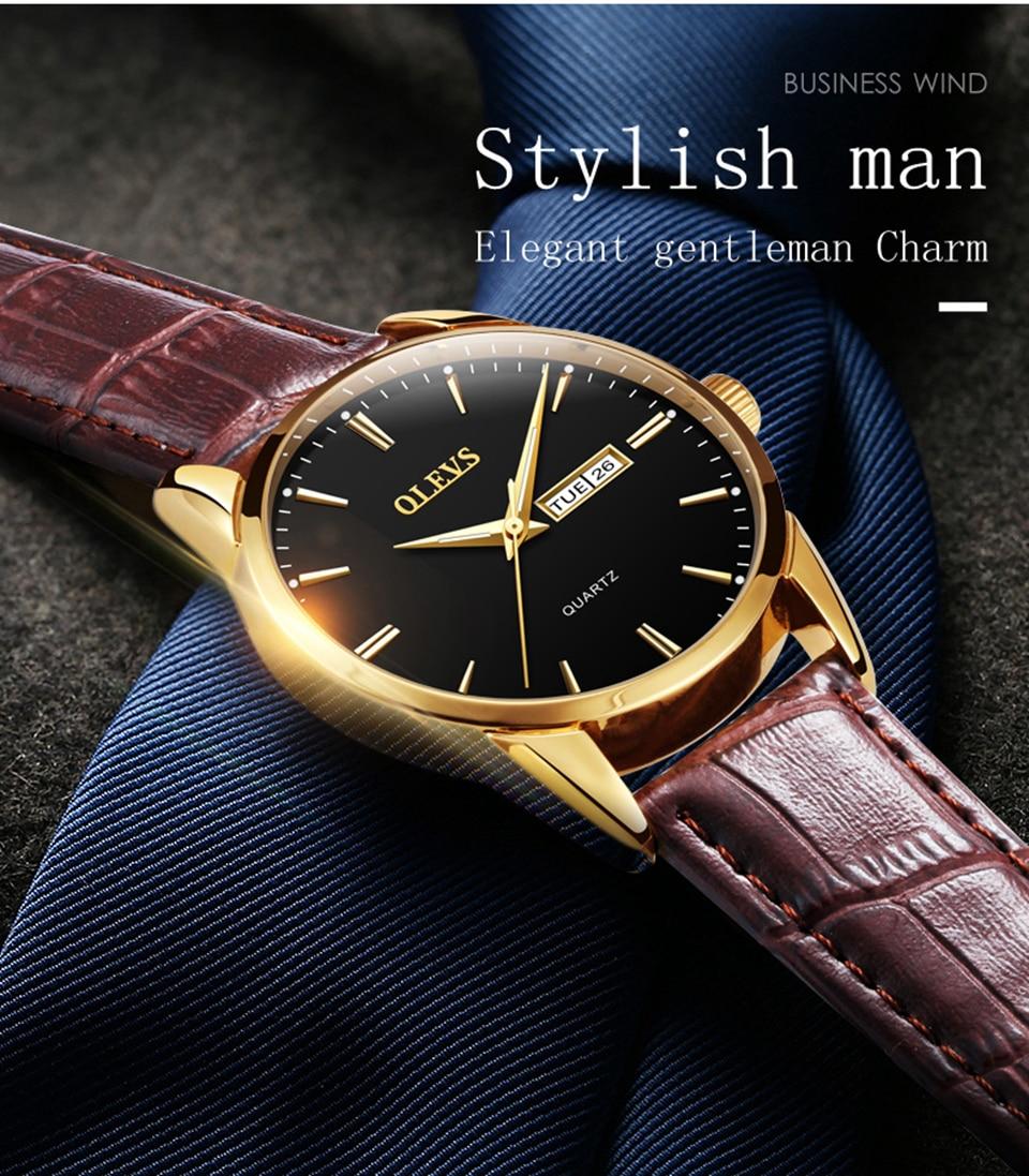 c08a4fac31d Relógios de pulso homens 2017 marcas famosas OLEVS relógio relogio ...