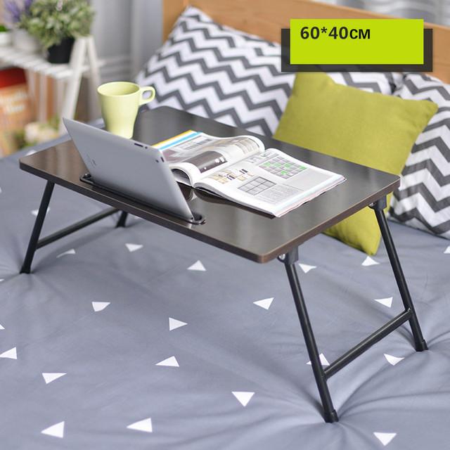 Moderno dormitório mesa dobrável preguiçoso mesa aprendizagem 60*40 cm com um slot