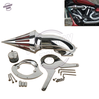 Chrome Motorcycle Spike Air Cleaner Intake Filter case for Honda Shadow Aero VT750 VT750C 2004 2005 2006 2007 2008 2009