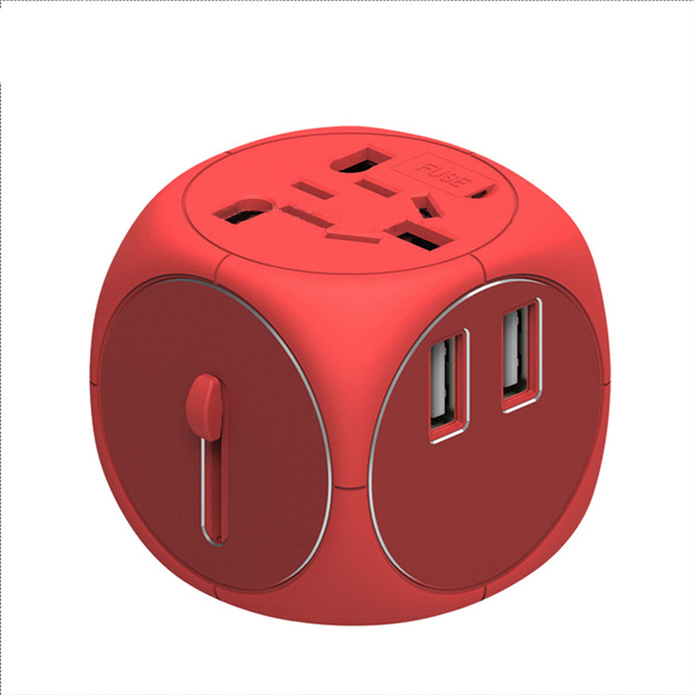 Common Universal EU UK AU to US USA AC Travel Power Plug Charger Adapter Conversion Adaptor for Home Use for Travel