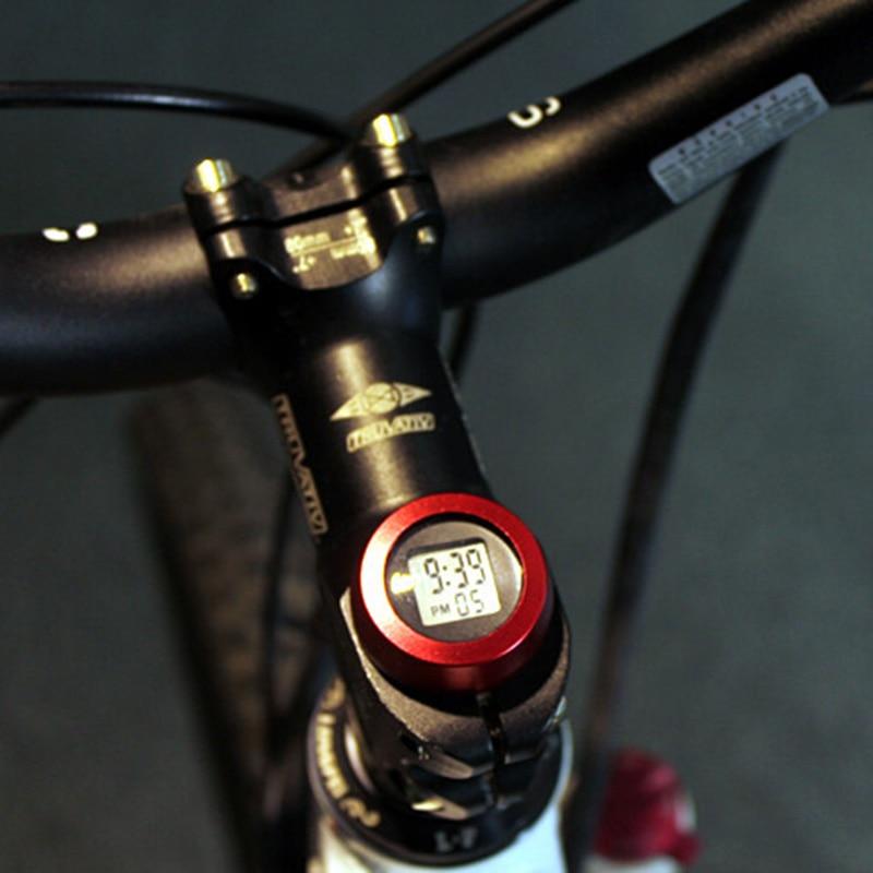 Bicyclette de vélo Casque Souches Montre Ordinateur De Vélo Véhicule Horloge Vélo Tête Pièces Montre Casque Haut Cap Souches Couvercle Pour VTT