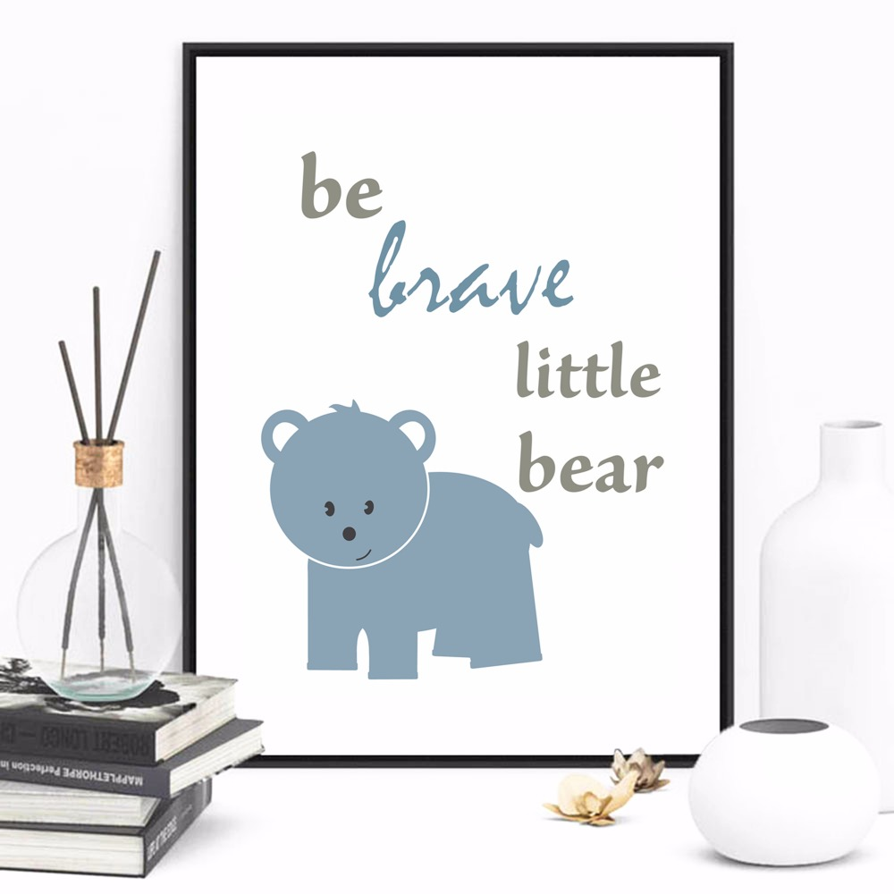 Forest Themed Nursery Set Canvas Art Print Painting Poster Wall Pictures For Kids Room Home Decorative Bedroom Decor No Frame in Painting Calligraphy from Home Garden
