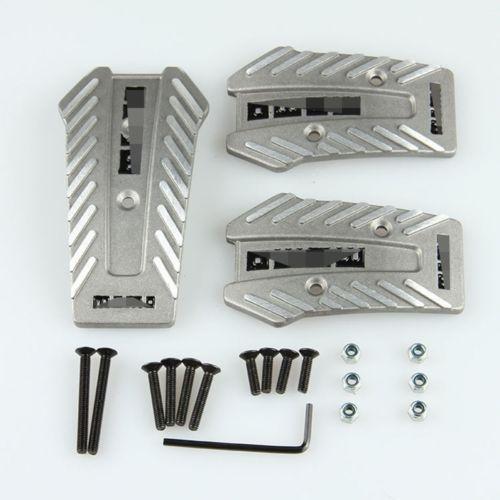 2015 selling momo Antislip Car Pedal Manual Universal Series Kit Pad Cover Aluminum good quality Free shipping
