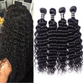 Brazilian Deep Curly Virgin Hair 3 Bundle Deals Deep Wave Unprocessed Virgin Brazilian Hair Deep Curly Brazilian Hair Human Hair