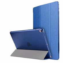 ocube Luxurious Extremely Slim Silk Sample PC Again Folio Stand Holder PU Leather-based Case Cowl For Apple Ipad 2017 New Professional 10.5″Pill
