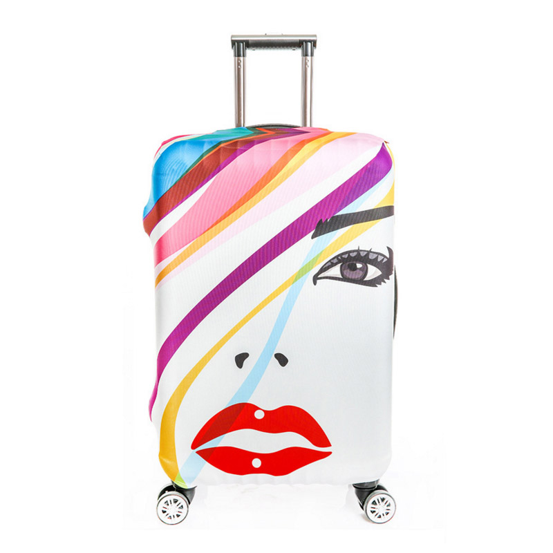 Prints Travel Luggage Cover For 18 20 22 24 26 28 30 32 Inch Trolley Case Elastic Suitcase Stretch Thick Case Covers