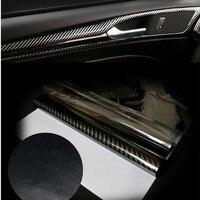 152 70CM Glossy 4D 5D 6D Black Carbon Fiber DIY Car Wrap Bubble Free Air Release