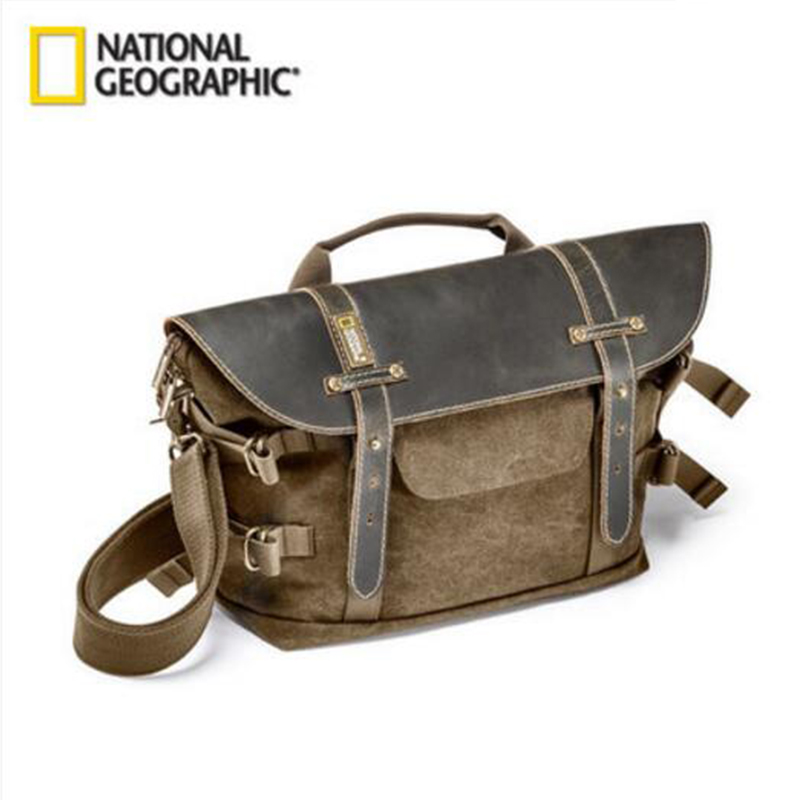 National Geographic NG A2140 Soft Camera Bag Portable Shoulder Bags Leather Outside Carry Bag Africa Series Multi-functional Bag national geographic ng rf 5350 camera bag digital video camera backpacks portable camera protection photography accessories bag
