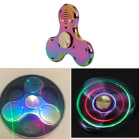 1pc New LED Light Fidget Hand Spinner Bluetooth Speaker Lamp Music EDC For Autism Anti Stress