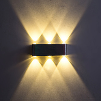 Indoor Triangle Colorful Wall Lights 6W 8W Aluminum Alloy Modern LED Wall  Lamp 180x60x30mm AC90-260V ART Decorate DIY Home light