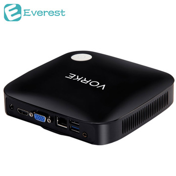 Vorke V1 Mini PC Windows 10 Intel Braswell Celeron J3160 1.6GHz 4GB RAM 64GB SSD 802.11AC 1000Mbps Bluetooth4.0 HDMI&VGA  USB3.0