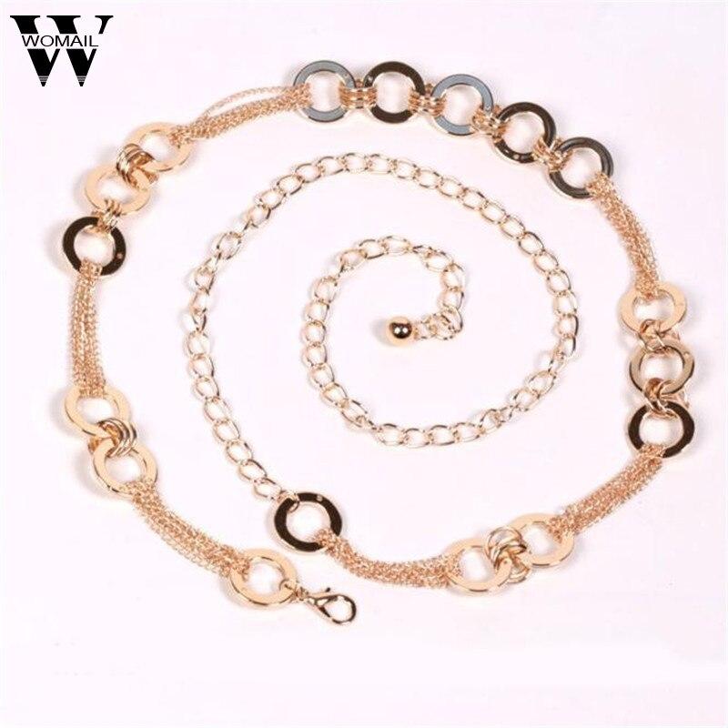 Lady Fashion Metal Style   Belt   Waist Chain   Belts   for Women ceinture femme Amazing A25