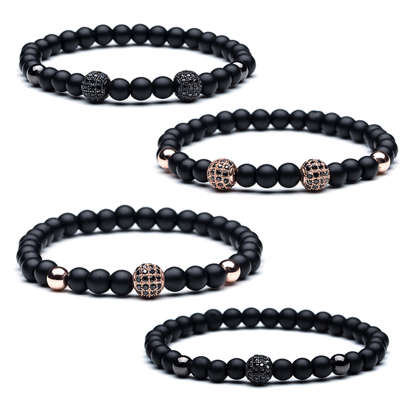 Matte stone Men's bracelet High quality Natural stone head ...