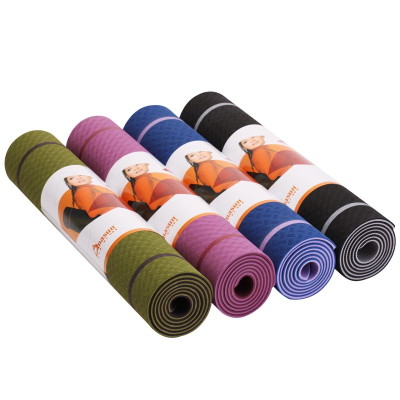 Dimason for beginners TPE yoga mat 6mm lengthen the padded fitness mat to widen the non
