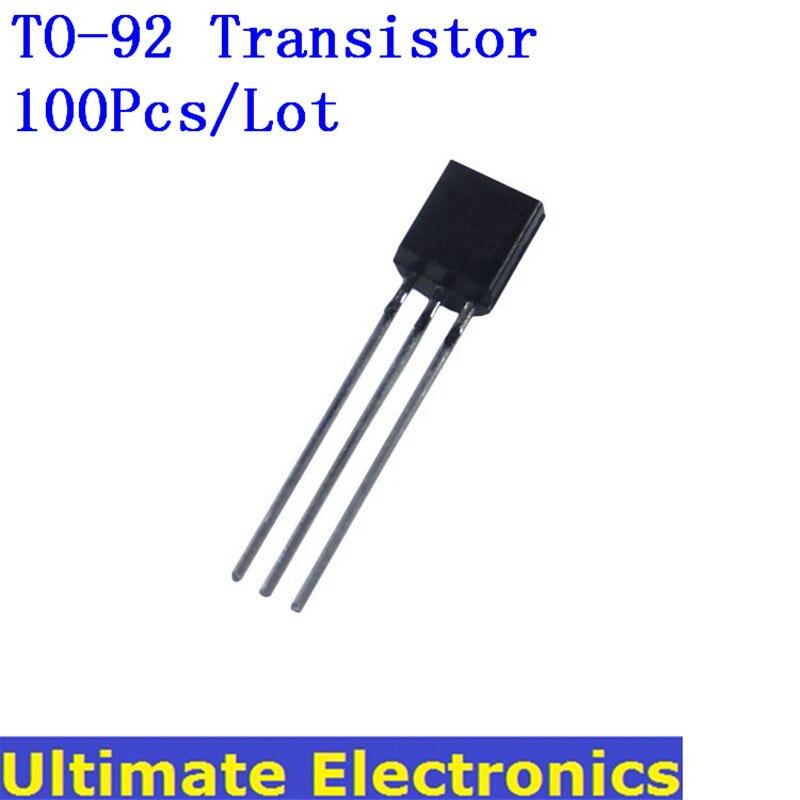 100Pcs/Lot TO-92 Transistor 2N2222 2N2907 2N3904 2N3906 2N5401 2N7000 A1015 2SC1815 BC317 BC327 BC517 BC547 C945 A42 A92 S8050