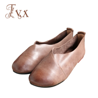Tayunxing Genuine Leather Handmade Slip On Casual Women Flats Comfort Soft Cow Leather Shallow 216 1