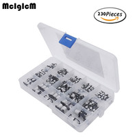 15value 300pcs SMD Aluminum Electrolytic Capacitors Assortment Box Kit