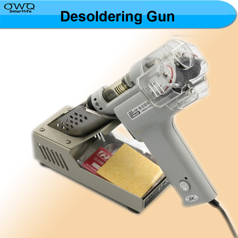 High Quality Electric Vacuum Double-Pump Solder Sucker Desoldering Gun Soldering Iron S-998P 1PC  цены