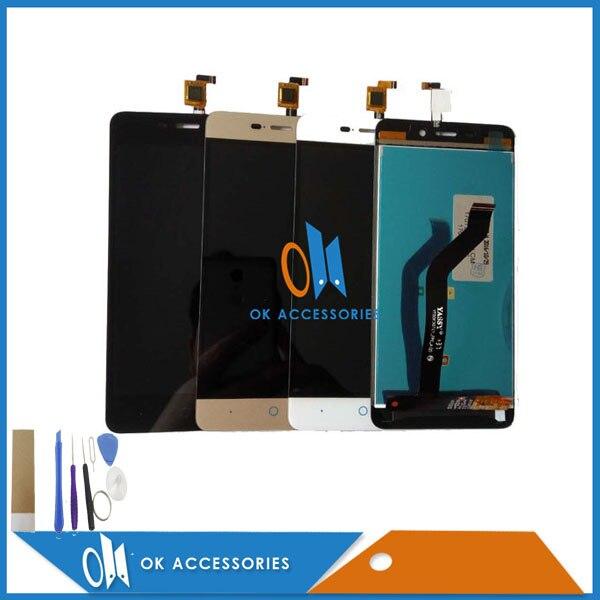 imágenes para Para ZTE Blade D2 X3 T620 A452 Pantalla LCD + Pantalla Táctil digitalizador Negro Blanco del Color del Oro 1 PC/Lot Con Herramientas y Adhesivo cinta