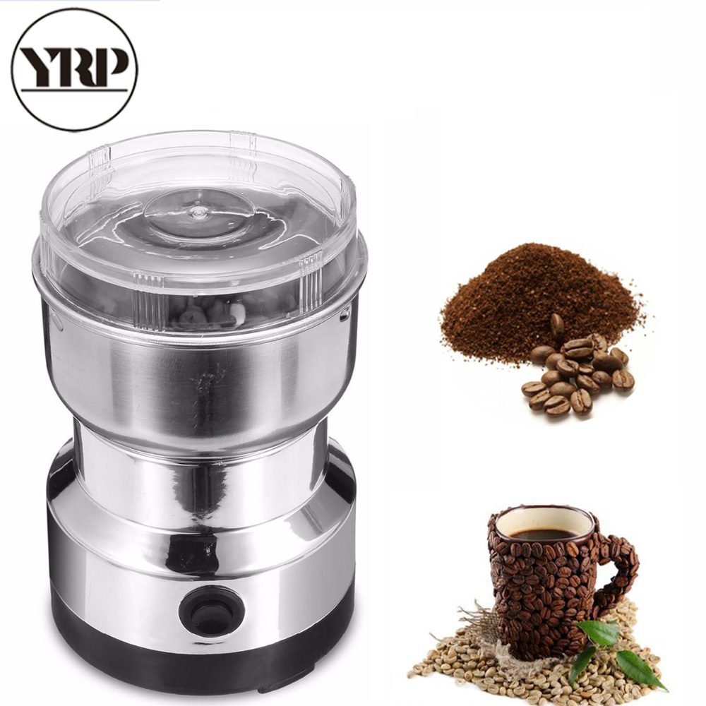 YRP Multi-functional EU Plug Electric Mini Stainless Pepper/Herbs/Spices/Nuts/Grains/Coffee Bean Powerful Mill Grinder Machine