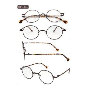 Image 3 - Mulheres redondas óculos ópticos quadros pequenos retro óculos armações masculino vintage óculos claros óculos lunette de vue homme