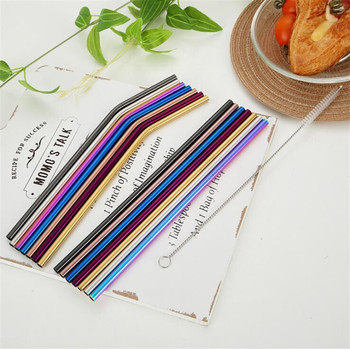 2/4/8Pcs Reusable Drinking Straw With High-Temperature Resistance For Party And Home Use